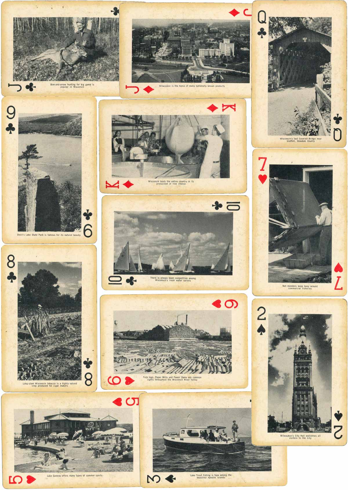 Souvenir deck from the State Historical Society of Wisconsin, c.1946