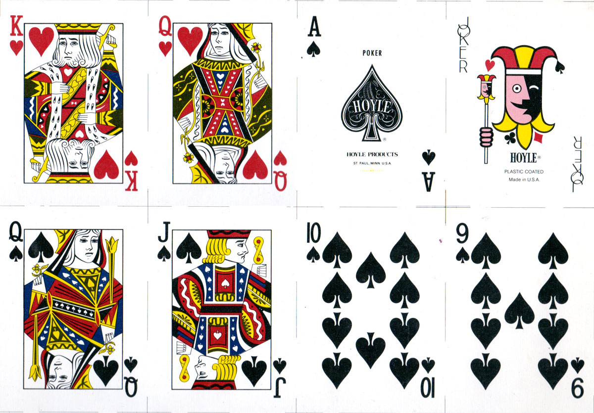 playing cards manufactured for Hoyle Products by Brown & Bigelow, c.1978-80