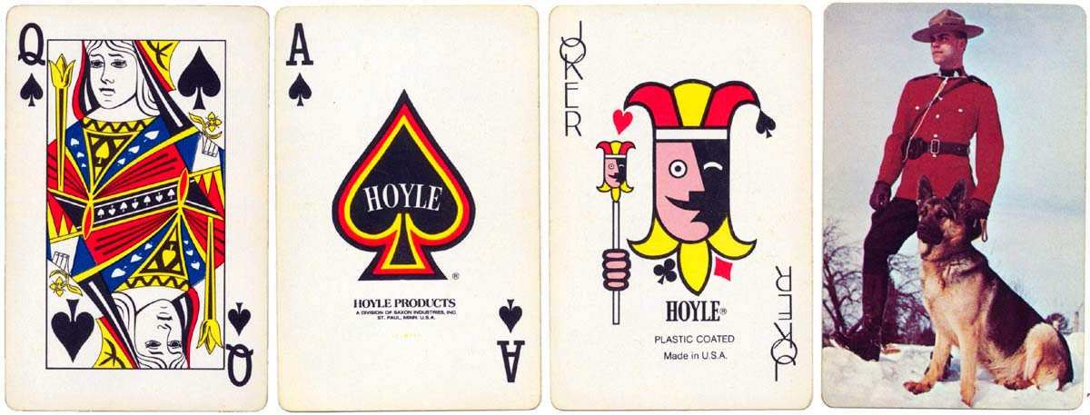 Souvenir of Canada playing cards manufactured for Hoyle Products by Brown & Bigelow, c.1976