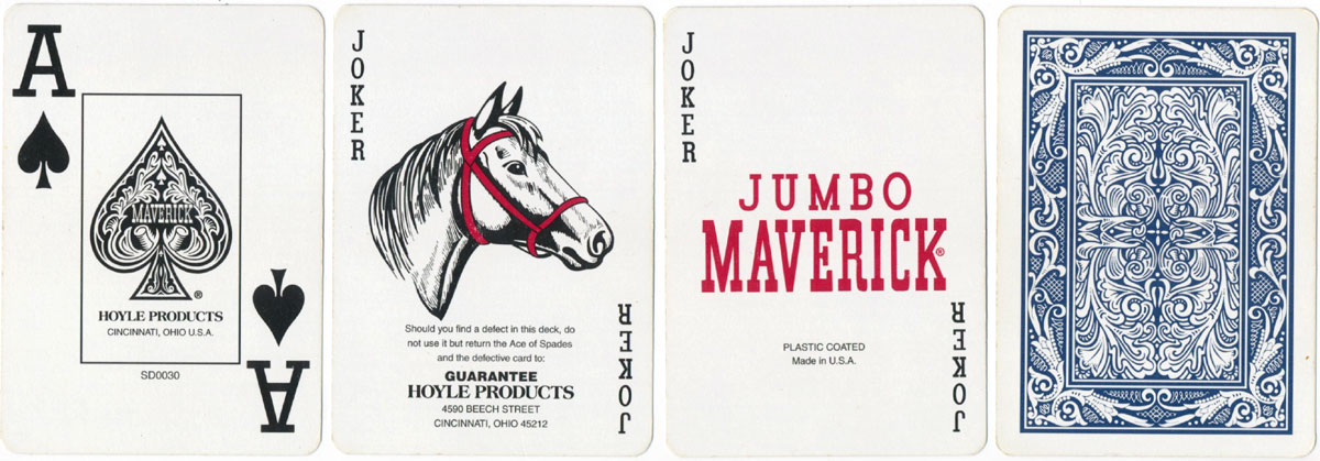 Hoyle jumbo Maverick playing cards, after 2001