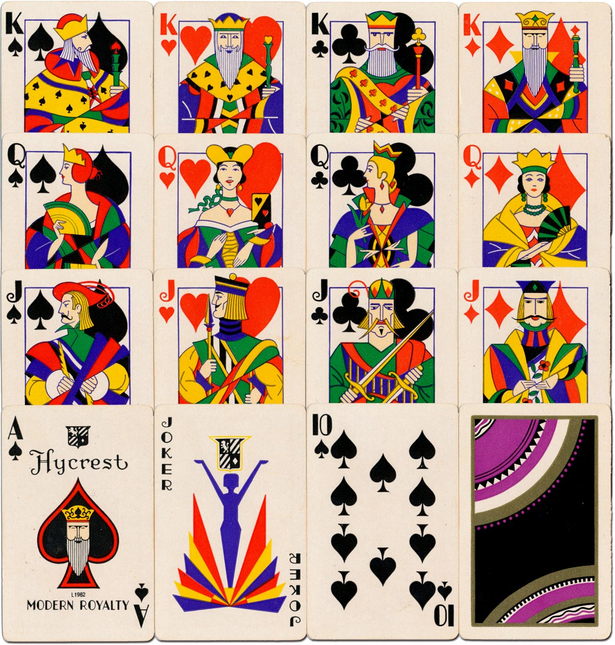 'Modern Royalty' playing cards published by the Hycrest Playing Card Co., New York, c.1931