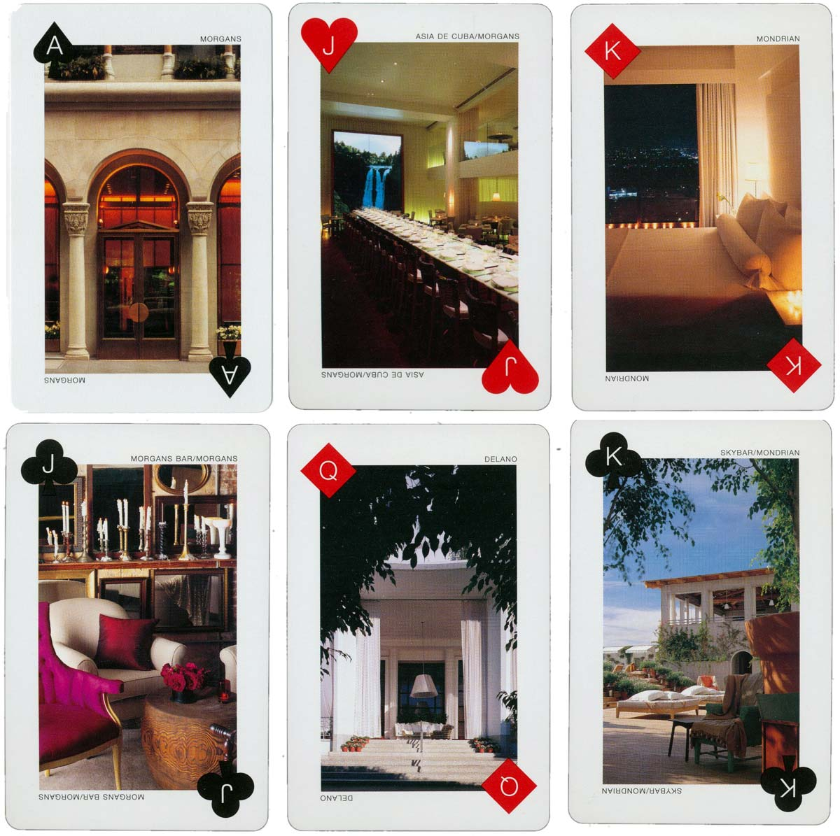 Advertising/souvenir deck of cards associated with the Ian Schrager chain of luxury hotels