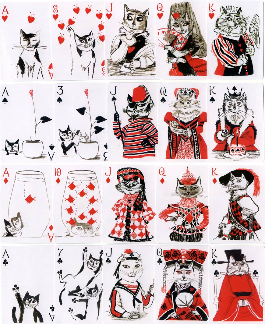 Kitten Club Playing cards, John Littleboy, 2006