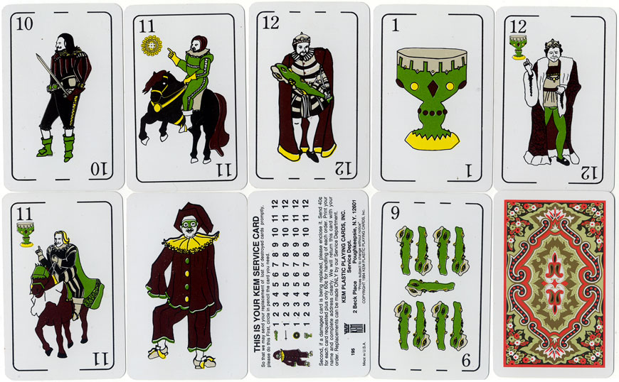 Kem Plastic Spanish Playing Cards
