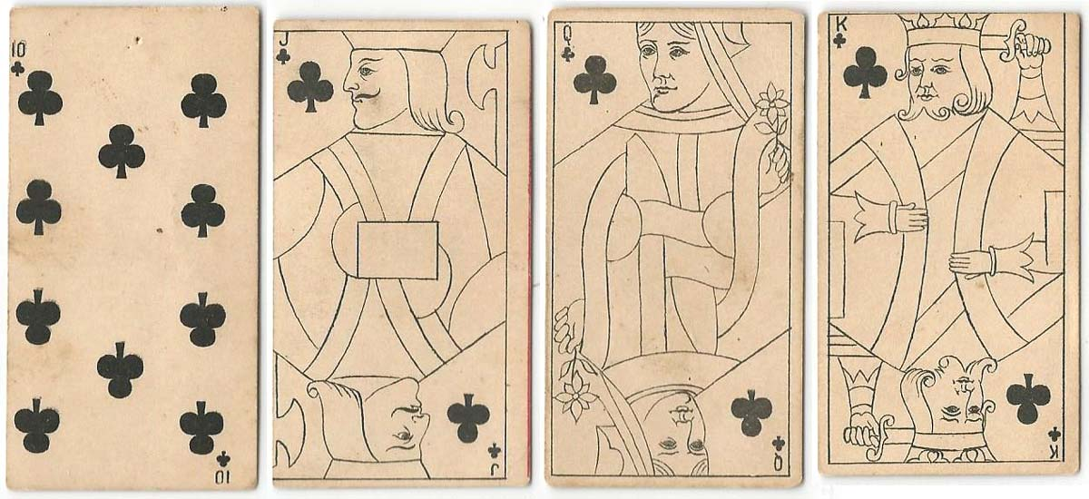 Kinney Transparent playing cards, c.1890