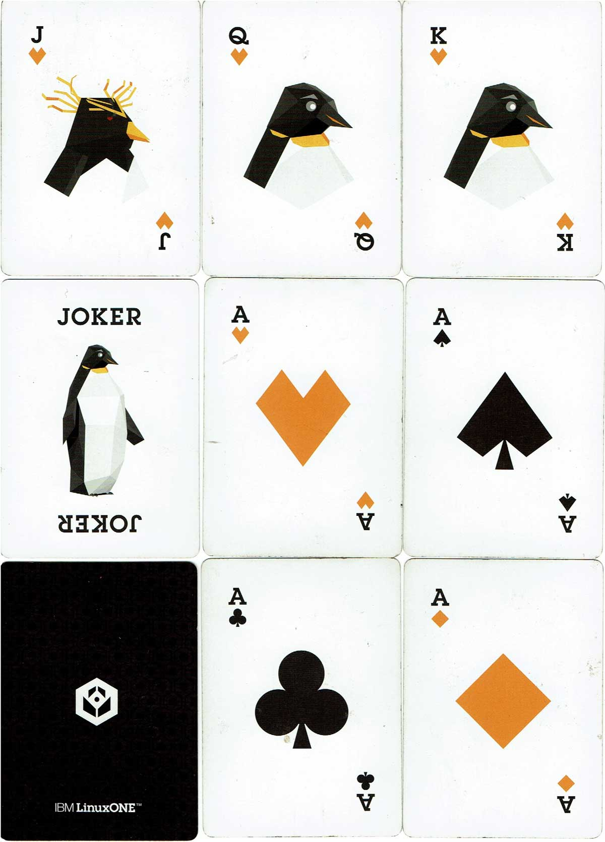 IBM Linux One playing cards, c.2018