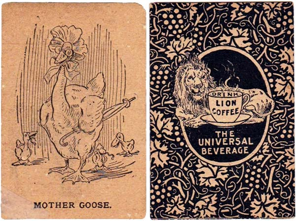 Lion Coffee Mother Goose card game, late 19th century