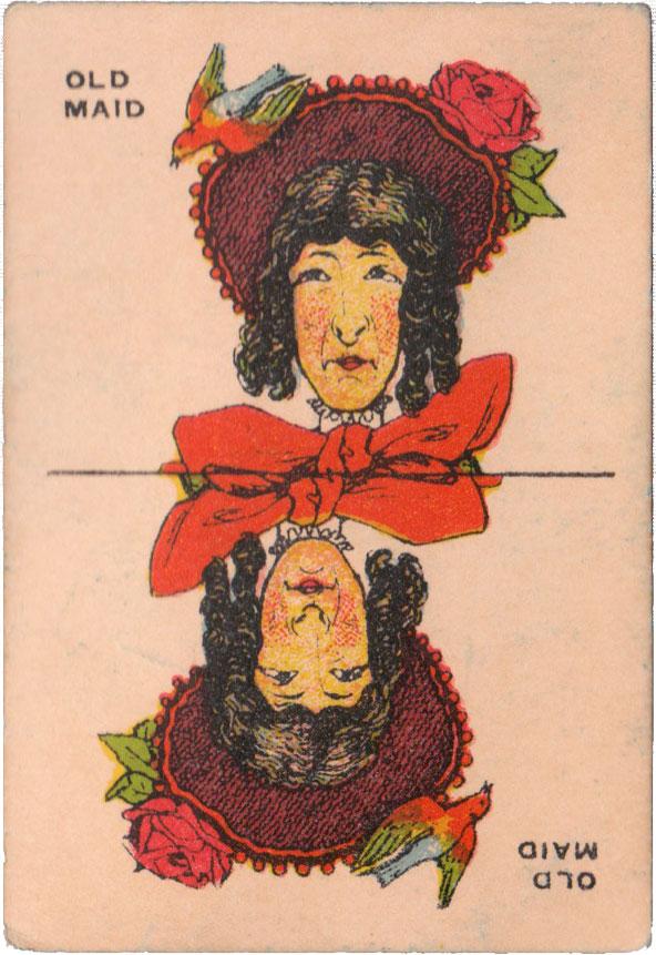 Milton Bradley 'Old Maid' card game, c.1920s