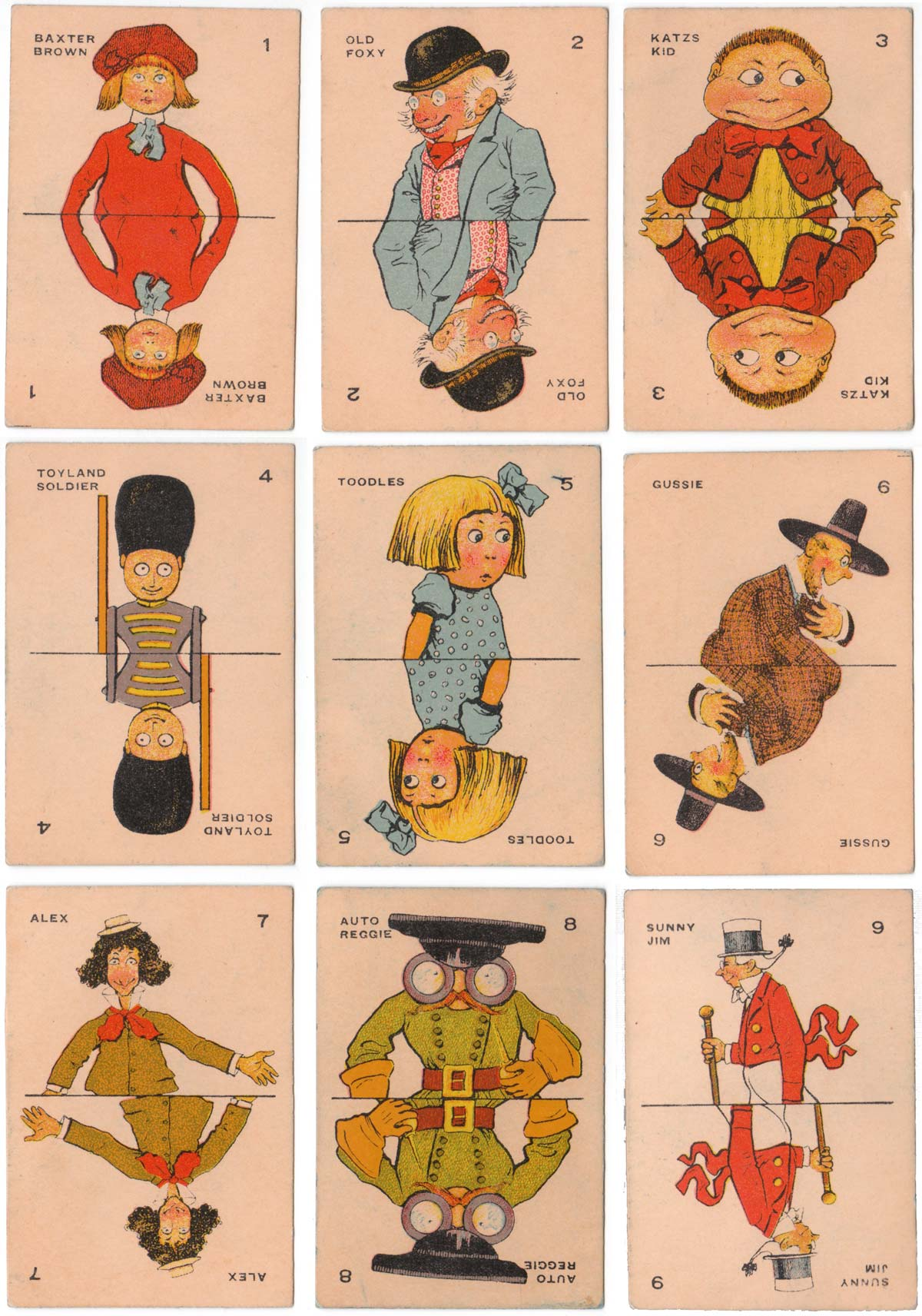 Milton Bradley 'Old Maid' card game, c.1920s