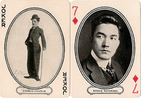 Joker and Seven of Diamonds, Movie Souvenir deck, 1916