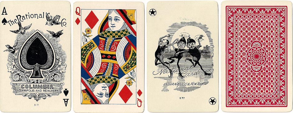 Columbia #134 playing cards by the National Card Co., c.1895