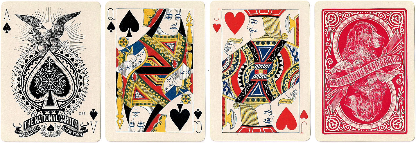 Skat 8 playing cards by the National Card Co., c.1895