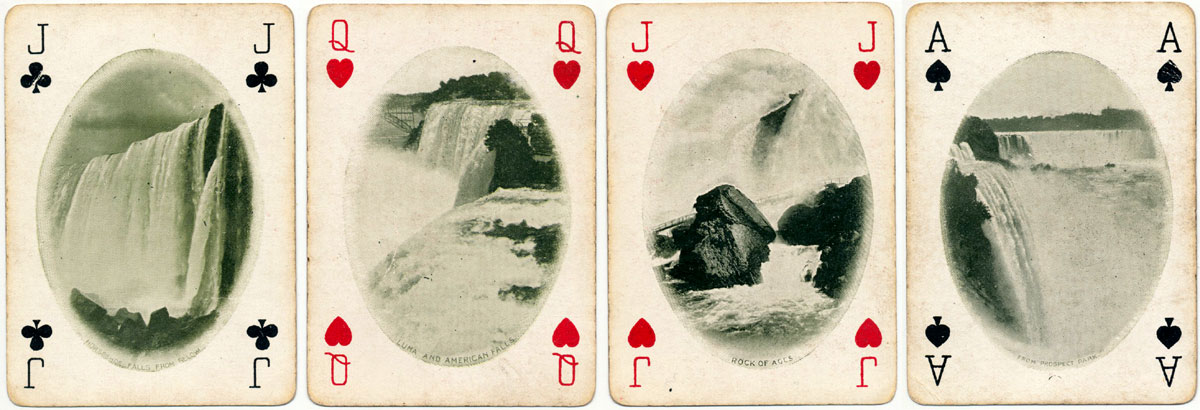 Niagara Falls Souvenir Playing Cards copyrighted 1901 by the Niagara Playing Card Co. Buffalo NY