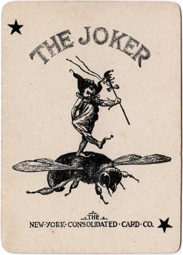 the early black & white Bee joker, c.1895
