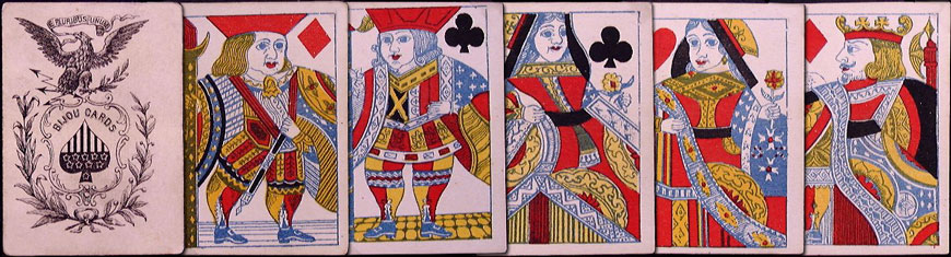 Bijou Patience cards made by Lawrence & Cohen, c.1860