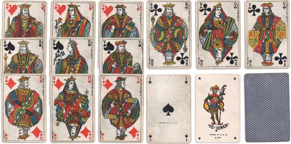 Genoese or Belgian style cards c.1900