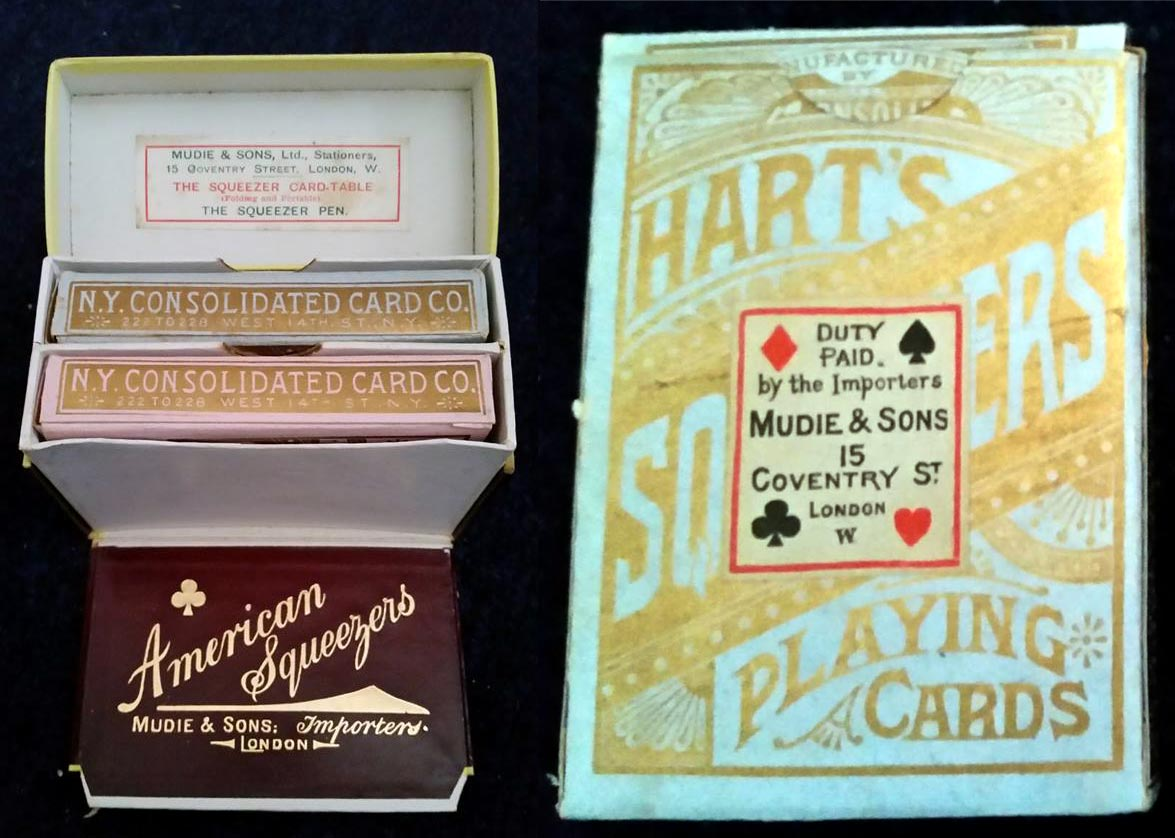 "Boxed set of ""Hart's Squeezers"", c.1890"