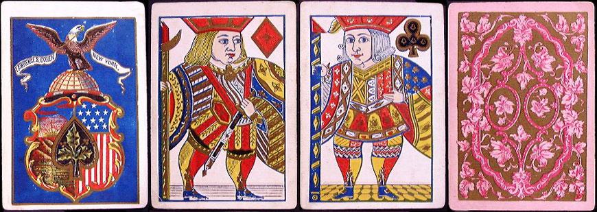 Superfine Florigated Playing Cards by Lawrence & Cohen, c.1863