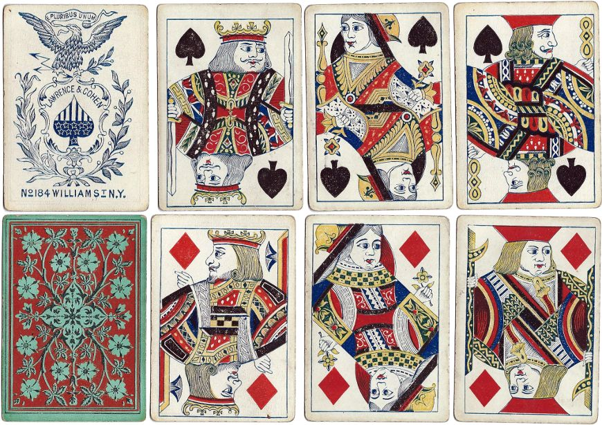 Double-ended cards made by Lawrence & Cohen, c.1863
