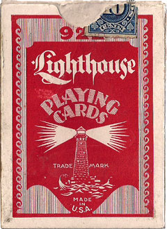 """Lighthouse No.922"" playing cards box"