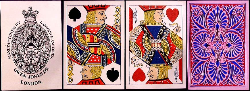 Deck with back designed by Owen Jones, c.1865