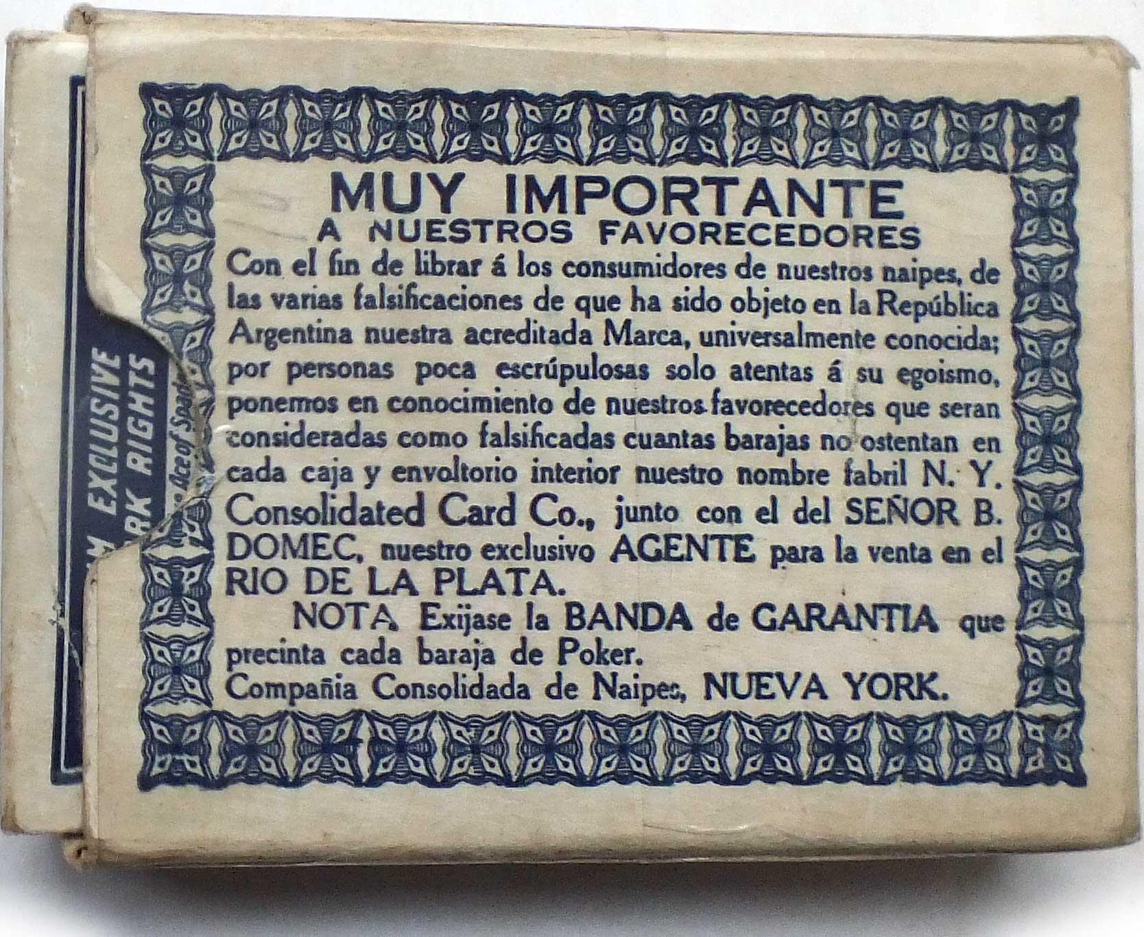 Squeezers Box notice, c.1927