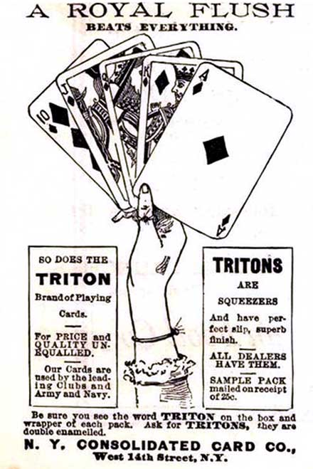 """Triton No.42"" playing cards advert, 1892"