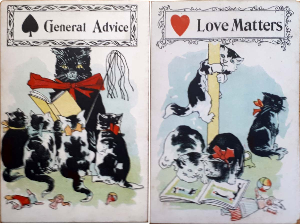Black Cat Fortune Telling Cards published by Parker Bros, 1897