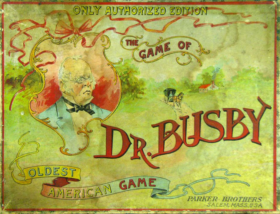 "The Game of ""Doctor Busby"" published by Parker Brothers, Salem, Massachusetts, USA, c.1890"