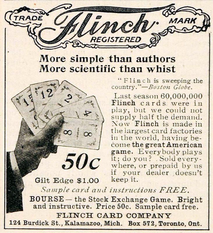 Flinch Game advert 1903