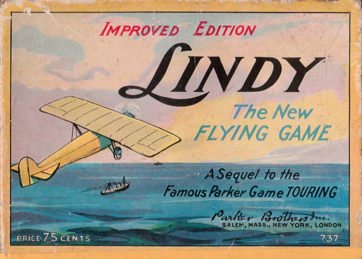 'Lindy' - the flying game - a sequel to 'Touring' by Parker Brothers, 1927
