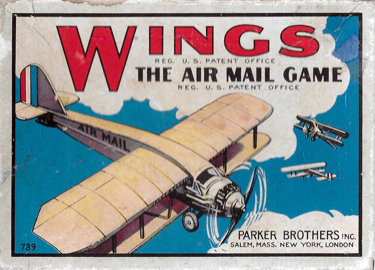 'Wings', the air mail game © 1928 by Parker Brothers Inc.