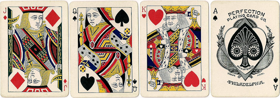 Tip-Top No.350 playing cards manufactured by Perfection Playing Card Company, Philadelphia, c.1887