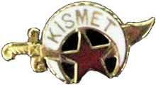 Kismet Temple lapel pin
