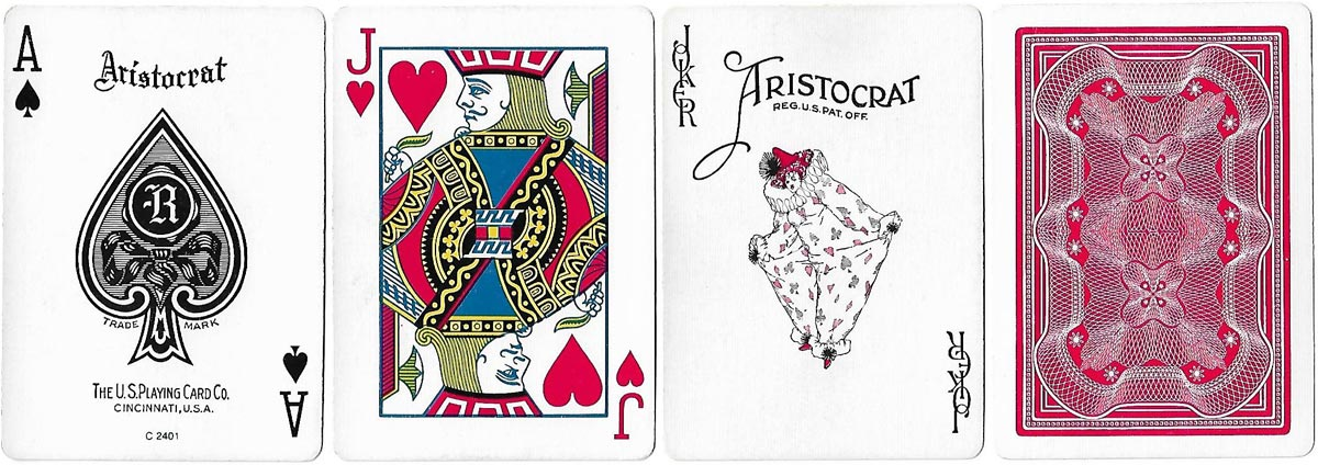 """Aristocrat"" brand with USPCC ace of spades, c.1981"