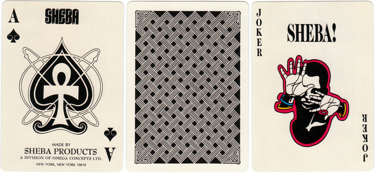 Sheba playing cards published by Omega Concepts Ltd, 1972