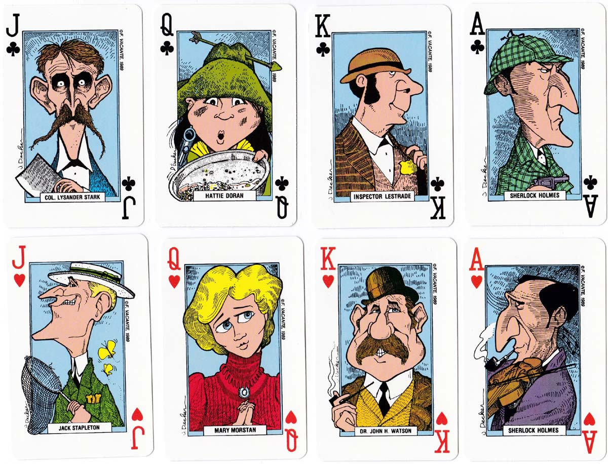 Sherlock Holmes deck with designs by J. Decker, Gemaco 1989