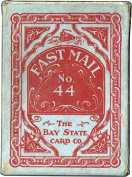Fast Mail #44 playing cards box, c.1900