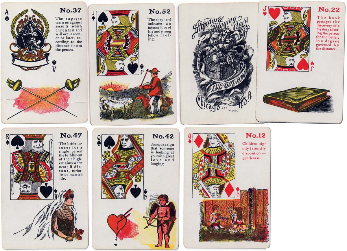 Gypsy Witch Fortune Telling Cards, c.1905