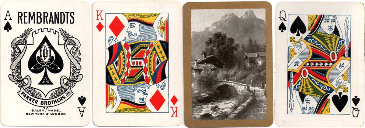 Rembrandts brand made for Parker Brothers, Salem, Mass. by the Standard Playing Card Co, c.1900