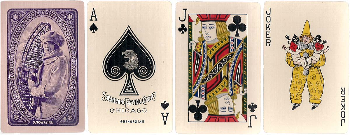 """Snow Girl"" made by the Standard Playing Card Company, 1926"