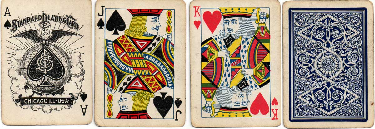Ace of Spades and court cards by Standard Playing Card Co., c.1895