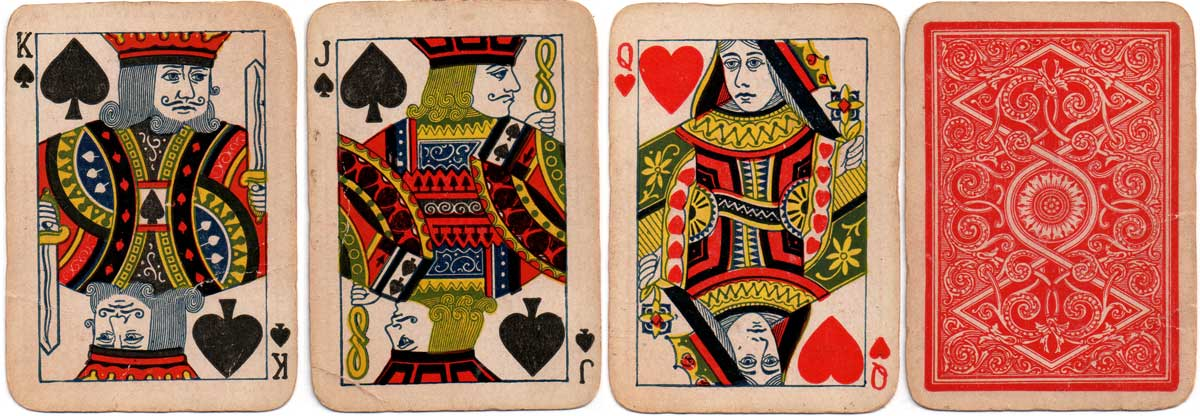 court cards by Standard Playing Card Co., c.1895