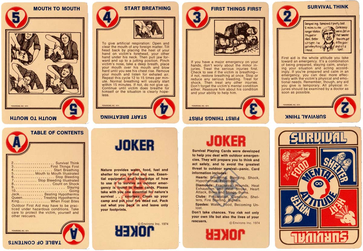 Survival Playing Cards by Environs inc. 1974