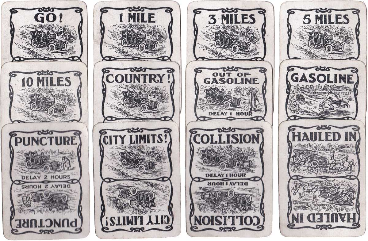 Touring Automobile card game published by Wallie Dorr Company, NY, in c.1920