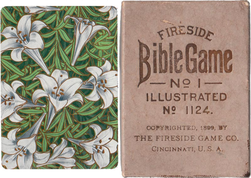 """Fireside Bible Game"" (No.1124) published by The Fireside Game Co., Cincinnati, USA, 1899"