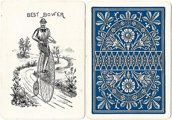 Bicycle Playing Cards, 1st edition, printed by Russell & Morgan Printing Co., Cincinnati, 1885