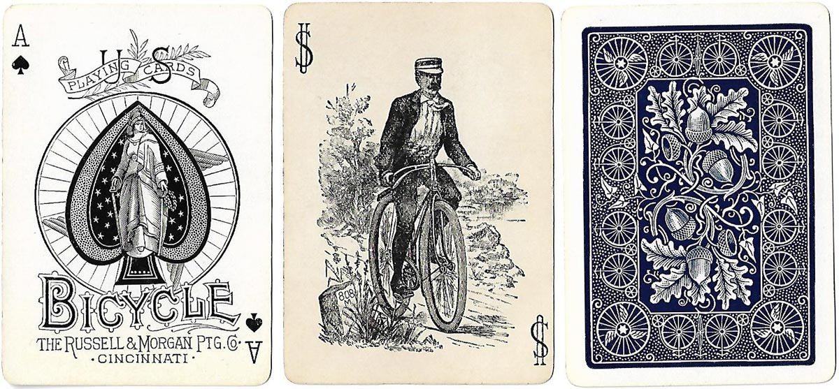 Bicycle playing cards, Russell & Morgan Printing Co., c.1891