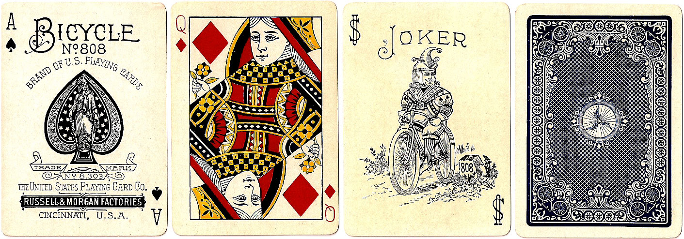 Bicycle No.808 playing cards, U.S.P.C. Co., c.1895