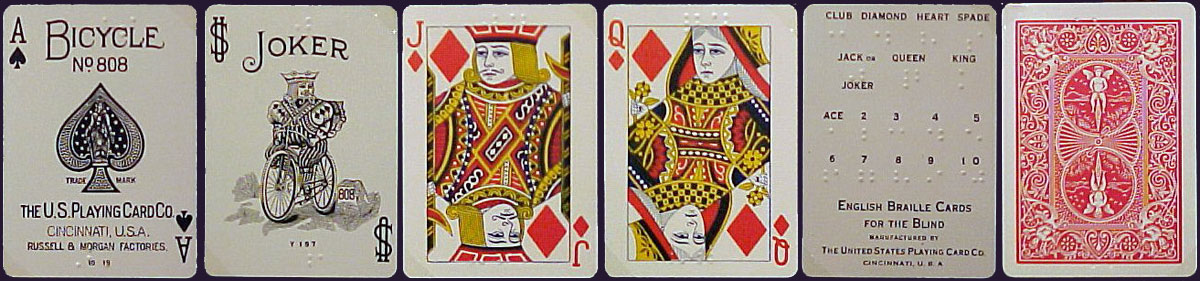 Bicycle No.808 playing cards, USPCC, c.1924
